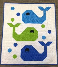Jonah Whale Baby Boy Quilt by LaughSewCreate on Etsy