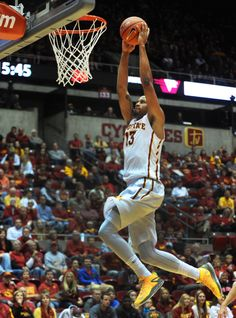 Iowa State's Bryce Dejean-Jones goes for a dunk against Viterbo during the second half Friday at Hilton Coliseum. Photo by Nirmalendu Majumdar/Ames Tribune
