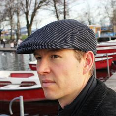 Free pattern and easy to follow step by step DIY tutorial for men´s Flat cap / Gatsby hat.