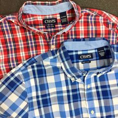 Chaps Men/'s Classic Fit Stretch Shirt NWT Big /& Tall Plaid Easy Care Assorted