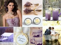 lavender and soft yellow wedding palette