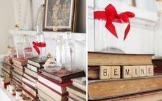 Ideas para decorar chimenea  San Valentín