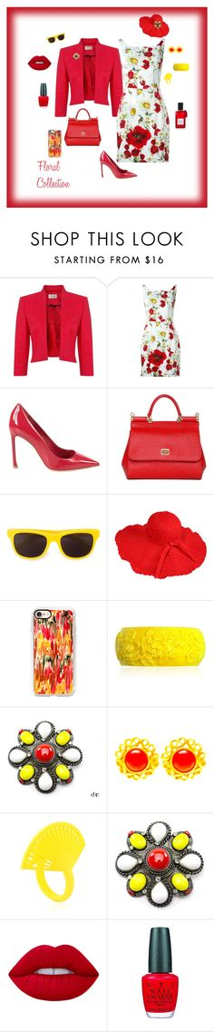 """""""Floral collection"""" by michelechambers ❤ liked on Polyvore featuring Precis Petite, Dolce&Gabbana, Christian Dior, Moschino, Casetify, Mariah Rovery, Chanel, Yves Saint Laurent, VOJD Studios and Lime Crime"""