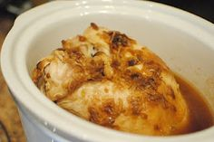 Easy Crockpot Turkey breast ~ I made this and it's SO good. My husband raved about how tasty and tender is was. Will be doing this again. So EASY.