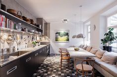 Kitchen of a duplex in Stockholm, Sweden