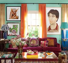 An eclectic mix of bright colors and patterns for a traditional Brazilian look.