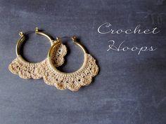 crochet hoop earrings!!!  @Stephanie Alger @Corinne Heiliger @Margarita Cabellon @Alyssa Willis