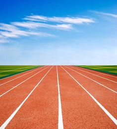 Photo about Racing track with a blue sky and white cloud. Image of fast, athletic, asphalt - 17967169 Track, Racing, Clouds, Sky, Blue, Image, Sports, Running, Heaven