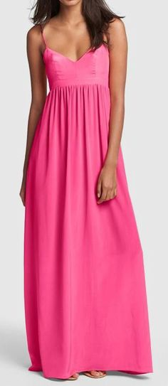 Nordstrom  Amanda Uprichard Silk Maxi Dress
