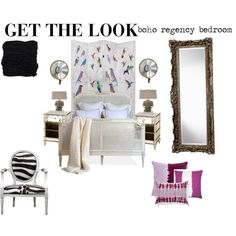 """""""Get the Look: Boho Regency Bedroom"""" by kathykuohome on Polyvore. #howto"""
