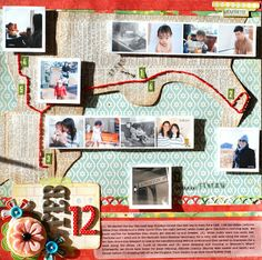 Like the Car: February Scrapbook layout #Silhouette