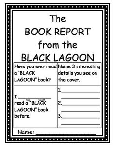 the book report from the black lagoon guided reading level