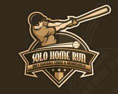 Solo Home Run by dinoDESIGNS - Sports Logo - logopond.com - #logo #design