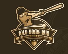 Solo Home Run by dinoDESIGNS - Sports Logo - logopond.com - #logo #design