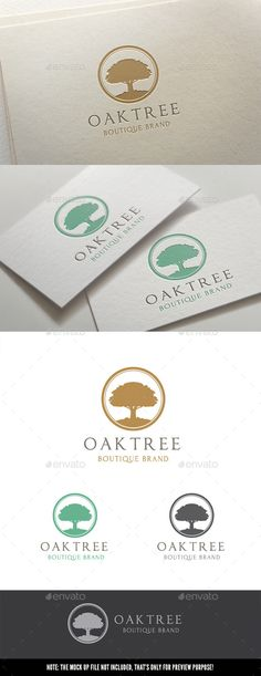 Oak Tree — Vector EPS #noble tree #company • Available here → https://graphicriver.net/item/oak-tree/11349282?ref=pxcr