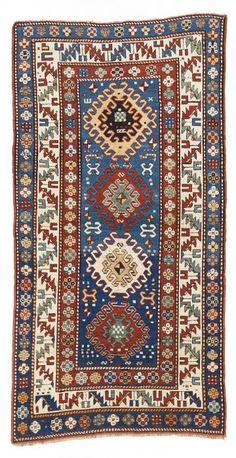 VAN-HAM Kunstauktionen Kazak Borjalu.  Late 19th Century. 218 x 113cm.