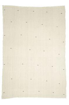 "Heavy woven 100% cotton throw, block printed with non-toxic dye.  76"" x 50""  $165 US"