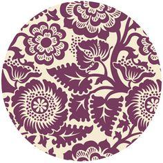 purple - Joel Dewberry Heirloom, Blockprint Blossom Amethyst