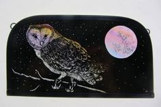 """Hunter's Moon (Barn Owl)"" by stained glass artist Tamsin Abbott"