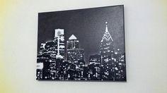 Philadelphia Skyline Canvas by jb265535 on Etsy