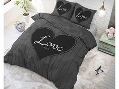 Povlečení mikrovlákno šedé barvy se srdíčkem Hall Furniture, Comforters, Nova, Blanket, Juice, Creature Comforts, Quilts, Blankets, Cover