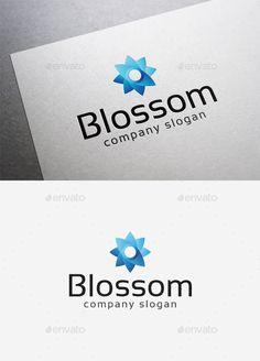 Blossom Logo — Vector EPS #modern #flower shop • Available here → https://graphicriver.net/item/blossom-logo/10115220?ref=pxcr