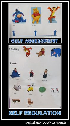 Self Assessment Leads to Self Regulation (Visual Cues RoundUP via RainbowsWithinReach) by millie Social Work, Social Skills, Coping Skills, Life Skills, Behavior Management, Classroom Management, Alert Program, Student Self Assessment, Social Emotional Development