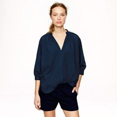 J.Crew - Poplin tunic top great with white jeans or pant. Love it with silver Mexican jewelry