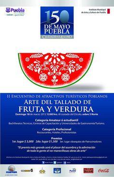 Arte del tallado de fruta y verdura / 18 Marzo / Puebla