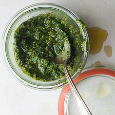 Lean to make the greenest of green sauces.