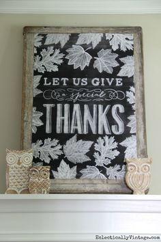 Fall Chalkboard Printable