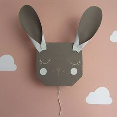 ANIMAL AND FLOWER WALL LIGHTS - SPANISH TYPOGRAPHIC PRINTS - TAPESTRIES – And so to Shop White Chalk Paint, Bunny Rabbit, Flower Wall, Tapestries, White Light, Kids Bedroom, Spanish, Wall Lights, Glow