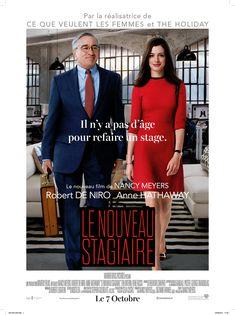 Le Nouveau stagiaire est un film de Nancy Meyers avec Robert De Niro, Anne Hathaway. Synopsis : Ben Whittaker, un veuf de 70 ans s'aperçoit que la retraite ne correspond pas vraiment à l'idée qu'il s'en faisait. Dès que l'occasion se présen