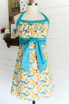 Emmeline Apron Fabric Kit - Alegria (my Sewing Hacks, Sewing Crafts, Sewing Projects, Fabric Crafts, Sewing Ideas, Pdf Sewing Patterns, Clothing Patterns, Crochet Patterns, Clothing Ideas