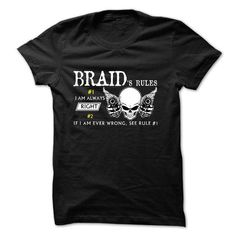 Sure BRAID Always Right 1C^ - #tshirt drawing #sweaters for fall. ORDER NOW  => https://www.sunfrog.com/Names/Sure-BRAID-Always-Right-1C.html?id=60505