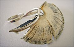 Jewelry from old books by Shiri Avda.