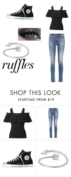 """""""Untitled #22"""" by abigailchalkley on Polyvore featuring AG Adriano Goldschmied, Converse, Midsummer Star, ruffles and RuffLyfe"""