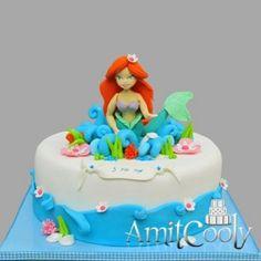 Mermaid cake, I like the rolled water detailing