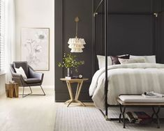 Black-bedrooms-trending-2021 Color Trends, Design Trends, Design Styles, Design Ideas, Top Paint Colors, Country Look, Country Chic, Interior Paint, Interior Design