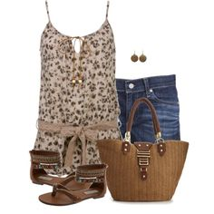 """""""Floral Tank"""" by daiscat on Polyvore"""