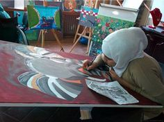 Syrian Refugees Explore Their Grief Through Art Therapy   Huffington Post