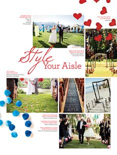 fun aisle runners - especially like the idea of writing out a story or having the fg drop pom-poms or felt flowers/leaves
