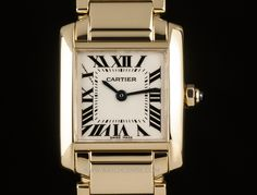 Cartier 18k Yellow Gold Silver Dial Tank Francaise Ladies W50002N2 More info on this beautiful ladies Cartier: http://www.watchcentre.com/product/cartier-18k-yellow-gold-silver-dial-tank-francaise-ladies-w50002n2/9854 #Cartier #Wristwatch #TankFrancaise #WatchCentre