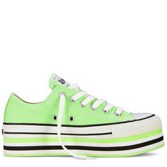 Converse - Chuck Taylor Platform - Low - Lime Green