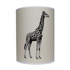 Giraffe shade/ lamp shade/ ceiling shade/ drum by KitschAttic