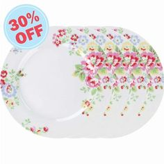 Cath Kidston - Set of 4 Spray Flowers Dessert Plates  sc 1 st  Pinterest & View All | Provence Rose Placement Set of 4 Dessert Plates ...