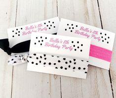 Barbie Party Favor - Girl Birthday Favor - Barbie Birthday - Girls Party Favor - Barbie Bachelorette - Pink and Black Favor