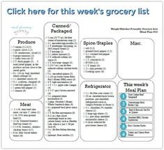 printable grocery list template myplate eating on a. Black Bedroom Furniture Sets. Home Design Ideas