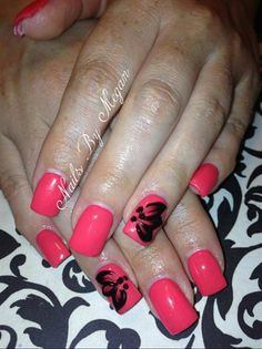 Coral love by Nailsbymg from Nail Art Gallery