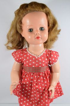 "Ideal Posie Doll 23"" 1955 Auburn Hair with Blue Eyes Magic Knees  #IDEAL #DollswithClothingAccessories"